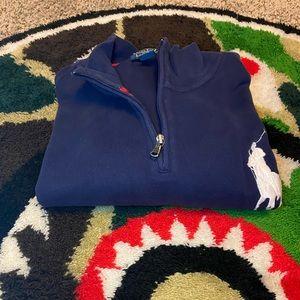 Navy blue quarter zip sweater